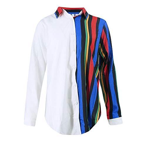 Button Blouse Classique Ray Femme Chemisier Longues Up Manches Multicolore Multicolore Tunique Chemise Chemisier Shirt Top Col Chic V Champion 1 Chimie MORCHAN Top Mode fZqApp
