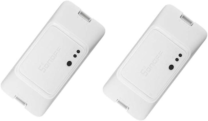 SONOFF BASICZBR3 Zigbee Smart Switch, Zigbee Home Smart Controller, Works with Amazon Alexa, Works with SmartThings hub (2-Pack)