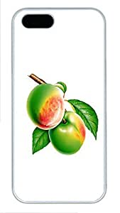 iPhone 5 5S Case Two fruits PC Custom iPhone 5 5S Case Cover White