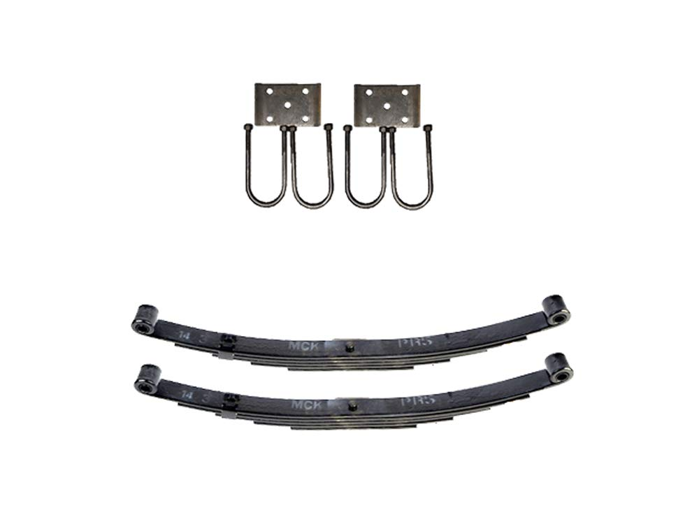 Trailer Double Eye Spring Suspension Kit for 2'' Tube - 2000 Pound Axles by TK Trailer Parts