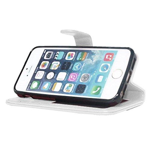 VSHOP ® Apple iPhone SE / 5 5S Housse Wallet Coque Case Cover Portefeuille Pochette Etui blanc