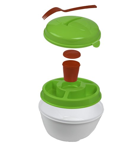 ClearMax All in One Salad 2 Go Container with Attachable - Bowl Salad Holder