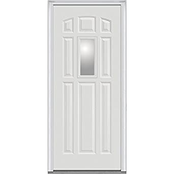 National door company z000737r steel primed right hand in for Front door not centered