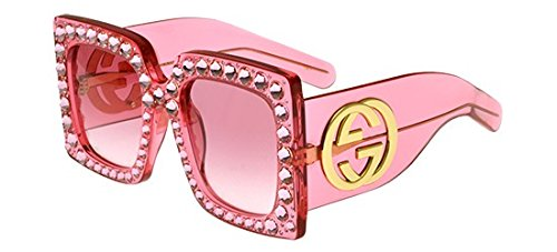 Sunglasses Gucci GG 0145 S- 001 (Pink Gucci Sunglasses)