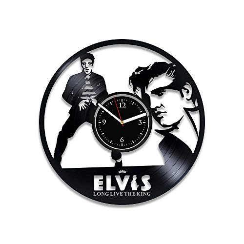 RainbowClocks Elvis Presley Clock Elvis Presley Vinyl Wall Clock Elvis Presley Gift For Man Elvis Presley Vinyl Record Clock Elvis Presley Wall Clock Vintage Birthday Gift Elvis Presley Xmas Gift