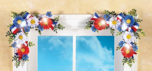 Lighted Americana Floral Corners