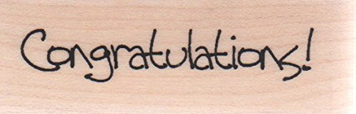 Congratulations Wood Mounted Rubber Stamp (A6847)