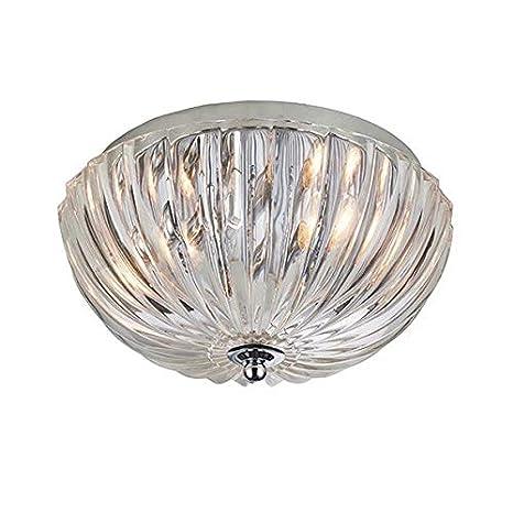 Chalbury - Lámpara de techo con pantalla de cristal ...
