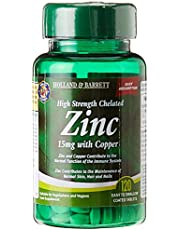 Holland & Barrett 15Mg High Strength Chelated Zinc with Copper 120 Tablets, 120 count
