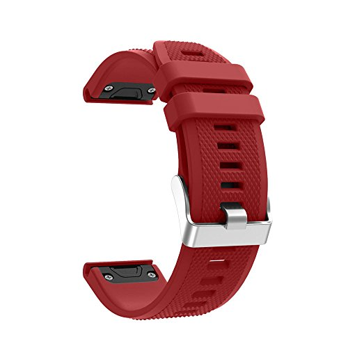 Huikeer Wristbands Compatible with Garmin Forerunner 935, Quick Release Strap Replacement Bands (Red)