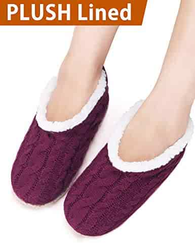 bd75899bf432e VERO MONTE 2 Pairs Womens Thick   Warm Slipper Socks with Grippers - House  Socks