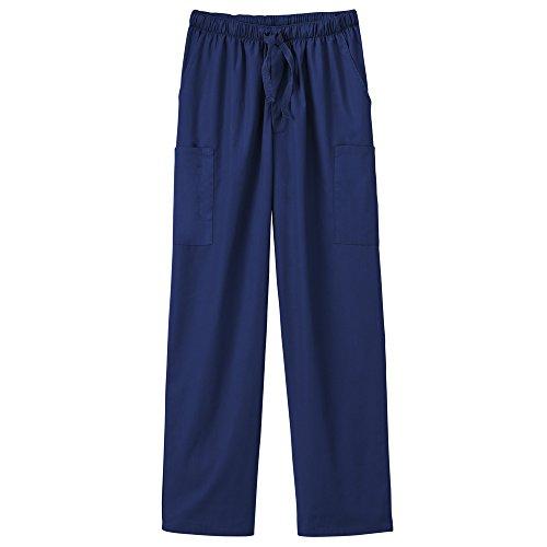 (White Swan Fundamentals 14843 Unisex Five Pocket Scrub Pant New Navy L)