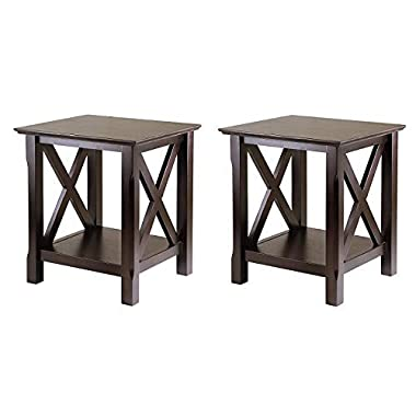 Winsome Wood Xola End Table (Pack of 2)