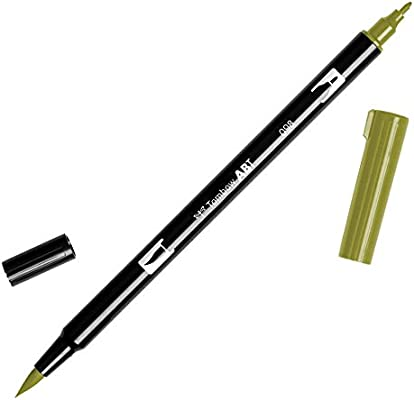 Tombow Dual Brush Marker Open Stock-098 Avocado