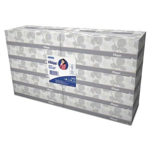 KIMBERLY-CLARK PROFESSIONAL* KLEENEX White Facial Tissue, 2-Ply, White, 100/Box - Includes six bundles of 10 boxes.