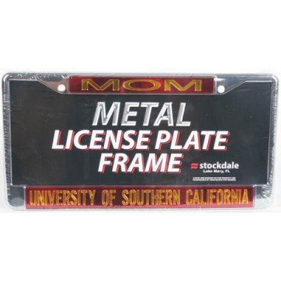 Usc Metal Mom Inlaid Acrylic License Plate Frame (Usc Metal)