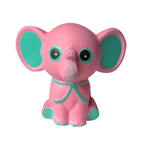 Jumbo Stress Reliever Squeeze - Squishies Adorable Elephant Slow Rising Cream Squeeze Scented Toys Charm Gifts - Stress Relief Toy - For Kids and adults - Home Decoration (Pink) -