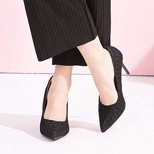 34 Festa Lavoro Alti Lavoro Nightclub EU Scarpe Sexy da da Black WeddingDUSTO 9cm 2 UK Scarpe da Donna Moda Nero Tacchi zwUqUO
