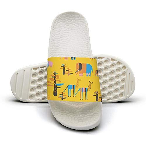 qiopw rtw Bathroom Shower Non-Slip Sandal Lion Baby Elephants Giraffe Indoor Slipper Shoes Beautiful Women