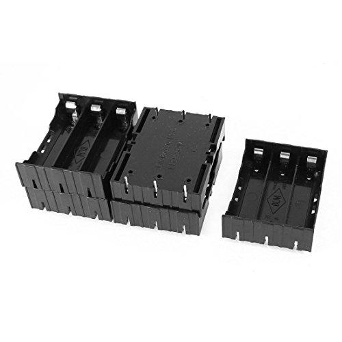 Saim-Plastic-37V-18650-Batteries-6-Pin-Battery-Holder-Case-Black-Pack-of-5
