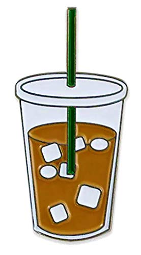 Classic Iced Coffee Enamel Pin