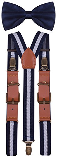 Adjustable Suspenders for Toddlers Boys Bow Tie Set for Kids Girl Shoulder (Little Man In The Boat Costume)