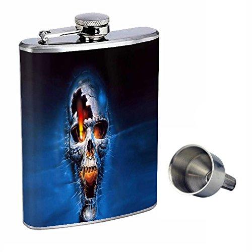 お歳暮 Perfection Inスタイル8オンスステンレススチールWhiskey Flask Flask Free with Free Perfection Funnelスカルdesign-005 B015QNGP4A, マルサク佐藤製材:e0018aeb --- domaska.lt