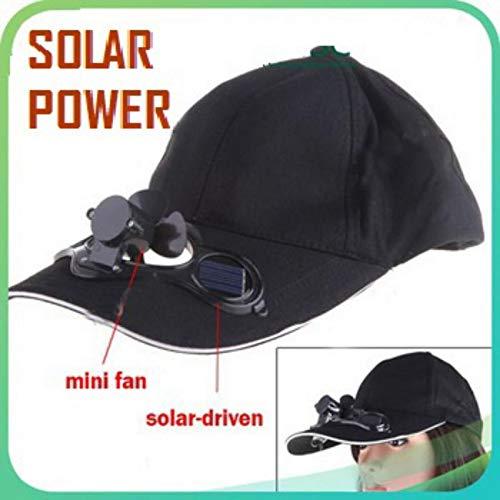 RIYA Products Baseball Hat / Cap with Solar Powered Cooling Fan Model 180246