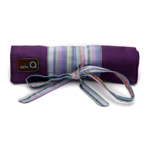 della Q Solely Socks Knitting Roll for Double Point Knitting Needles; 018 Purple Stripes 120-1-018