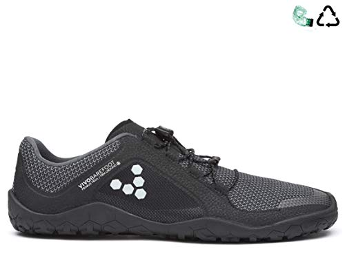 vivobarefoot Men's Primus Trail FG M MESH Runner, Black/Charcoal, 44 EU/(10.5-11) M US from vivobarefoot