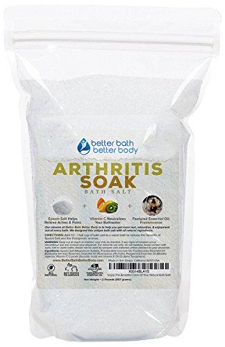 Arthritis Bath Salt 32oz (2-Lbs) Epsom Salt Bath Soak With Frankincense Essential Oil & Vitamin C - Get Arthritis Relief With This Natural Bath Soak - All Natural No Perfumes No Dyes