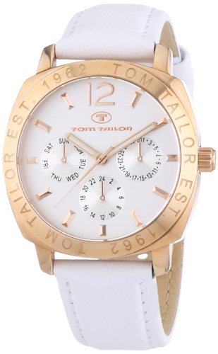 TOM TAILOR Damen-Armbanduhr Analog Quarz Leder 5412101