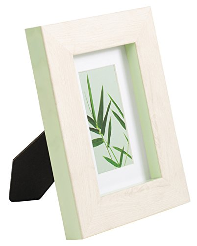 ith Mat & Glass Wood Finish for Wall Tablet, Monteverde Collection, Display Photo 4x6 Opening, Green ()