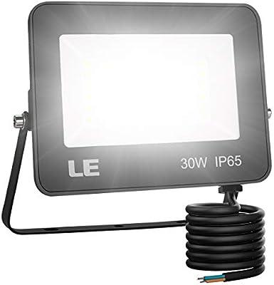 LE Foco LED de 30W, 3000 lúmenes, IP65 resistente al agua, Foco ...