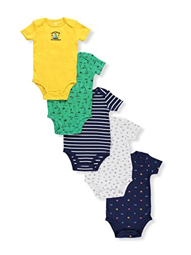 Carter's Baby Boys' 5 Pack Short Sleeve Bodysuits 9 Months