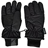 SANREMO Unisex Kids Thinsulate and Waterproof Cold Weather Ski Gloves(8-12 Years, Black)
