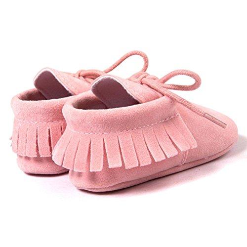 Hunpta Neue jungen Lauflernschuhe Baby Krippe Quasten Bandage weiche Sohle Schuhe Sneakers Casual Babyschuhe (11, Rosa) Rosa