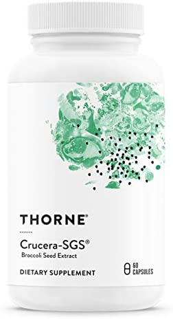 Thorne Research - Crucera-SGS - Broccoli Seed Extract for Antioxidant Support - Sulforaphane Glucosinolate SGS - 60 Capsules