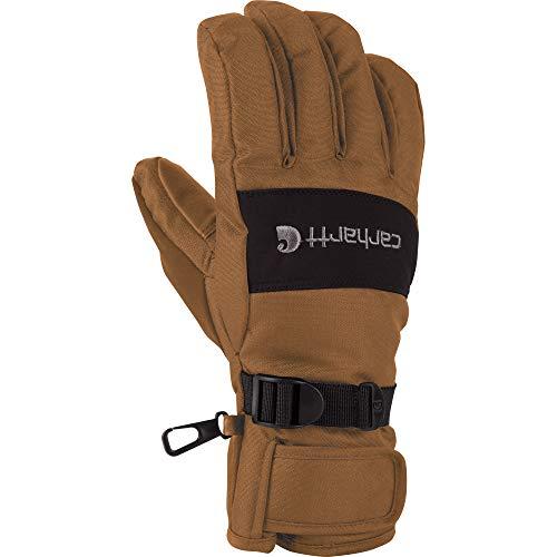 Carhartt Men's W.B. Waterproof Windproof Insulated Work Glove, Brown/Black, - Wb Floor