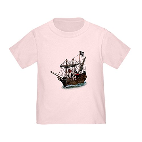 (CafePress Biscuit Pirates Toddler T-Shirt Cute Toddler T-Shirt, 100% Cotton Pink)