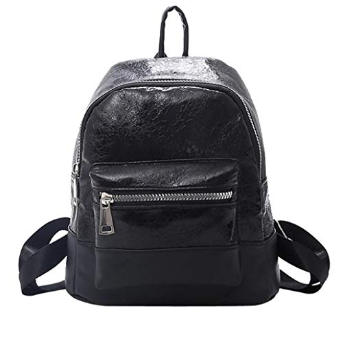 Clearance Students Backpack Rakkiss Pure Color Shoulder Bag School Bag Tote Neutral Students Nylon Backpack