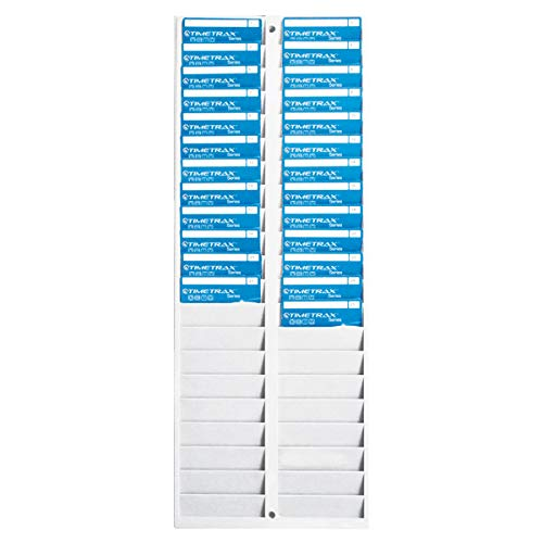 Pyramid Badge Rack, 40 Pockets, 8-1/4 x 1/2 x 22-1/2 Inches, Gray (PTI5004SP)