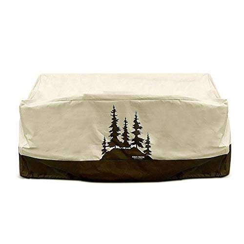 Oak Creek Premium Outdoor Furniture Cover | Patio Loveseat Cover with Air Vents, Click-Close Straps, Elastic Hem Cord | Made of Heavy Duty Waterproof Fabric with PVC Coating | Pine Tree Design by Oak Creek Outdoor Supply (Image #6)