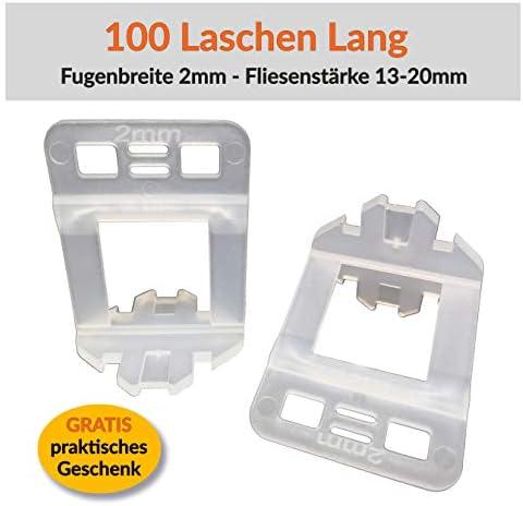 600 Laschen, 2,5mm Levello 1-3mm Fugenbreite Verlegehilfe f/ür Fliesen H/öhe 3-12 mm Laschen Nivelliersystem Fliesen Nivellierhilfe Zuglaschen