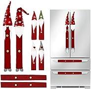 Christmas Decorations Gnomes Refrigerator Handle Covers Set of 8PCS, Christmas Kitchen Decor Appliance Handle