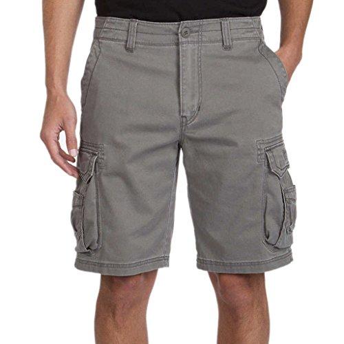 Unionbay Men's Quest Cargo Short,Gray,34