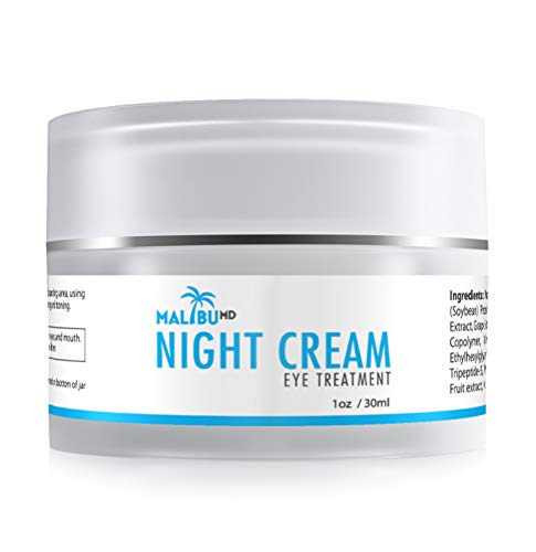 41xwRymSJuL - Night Cream | Collagen Infused | Anti Aging Serum For Dark Circles, Wrinkles & Puffiness | Non Greasy Moisturizer | With Tripeptide-5 & Aloe Vera To Reduce Fine Lines | Reduce Appearances of Wrinkles