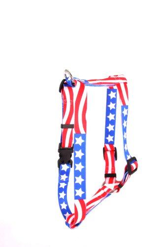 Americana Dog Harness - Yellow Dog Design Roman Harness, Large, Americana