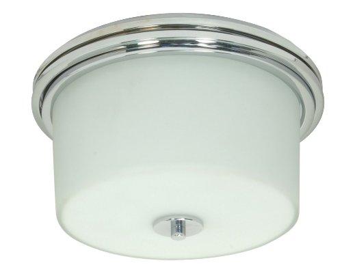Nuvo 60/1069 Polished Chrome Flush Drum with White Opal Glass (Jet Opal)