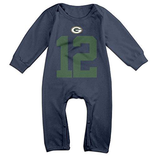 hotboy19-babys-green-bay-12-football-player-girls-boys-bodysuits-long-sleeve-navy-size-24-months